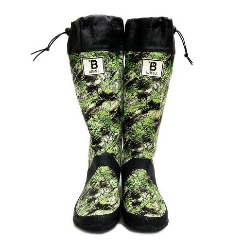 日本野鳥の会 バードウォッチング長靴 カモフラージュ柄 レインブーツ