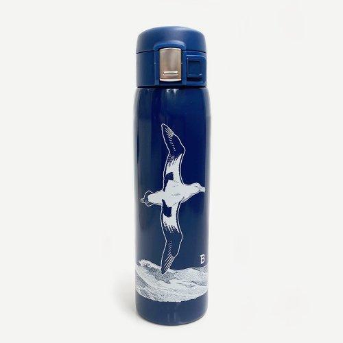 日本野鳥の会 オリジナル水筒 アホウドリ・ネイビー プラスチック削減