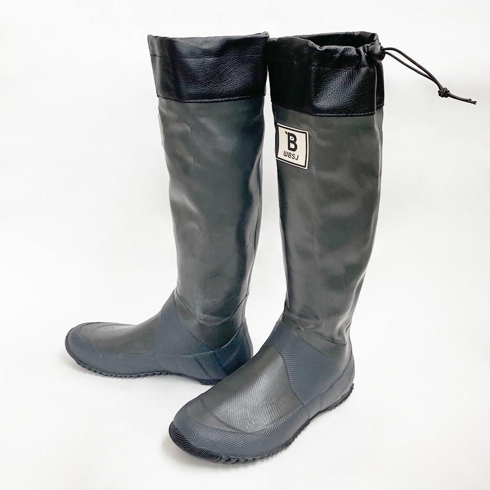 日本野鳥の会 バードウォッチング長靴 グレー レインブーツ
