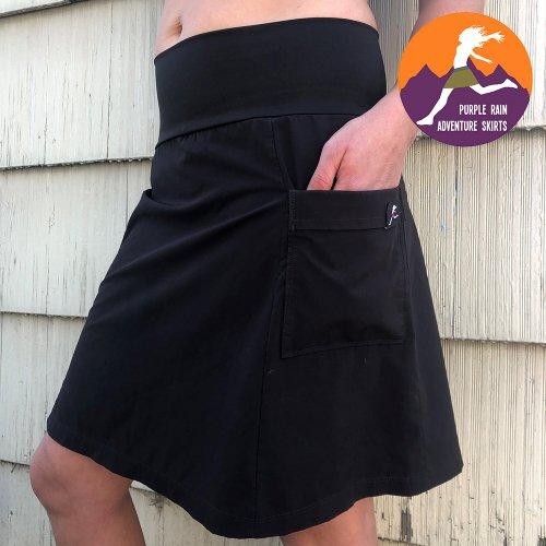 パープルレイン アドベンチャー スカート ブラック ハイキング アウトドア Purple Rain Adventure Skirt Black