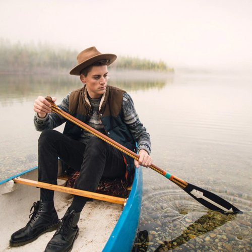 <img class='new_mark_img1' src='https://img.shop-pro.jp/img/new/icons1.gif' style='border:none;display:inline;margin:0px;padding:0px;width:auto;' />Sanborn Canoe Co. ARTISAN PAINTED PADDLES NORTH 7SCAPN Made in USA サンボーンカヌーカンパニー カヌーパドル
