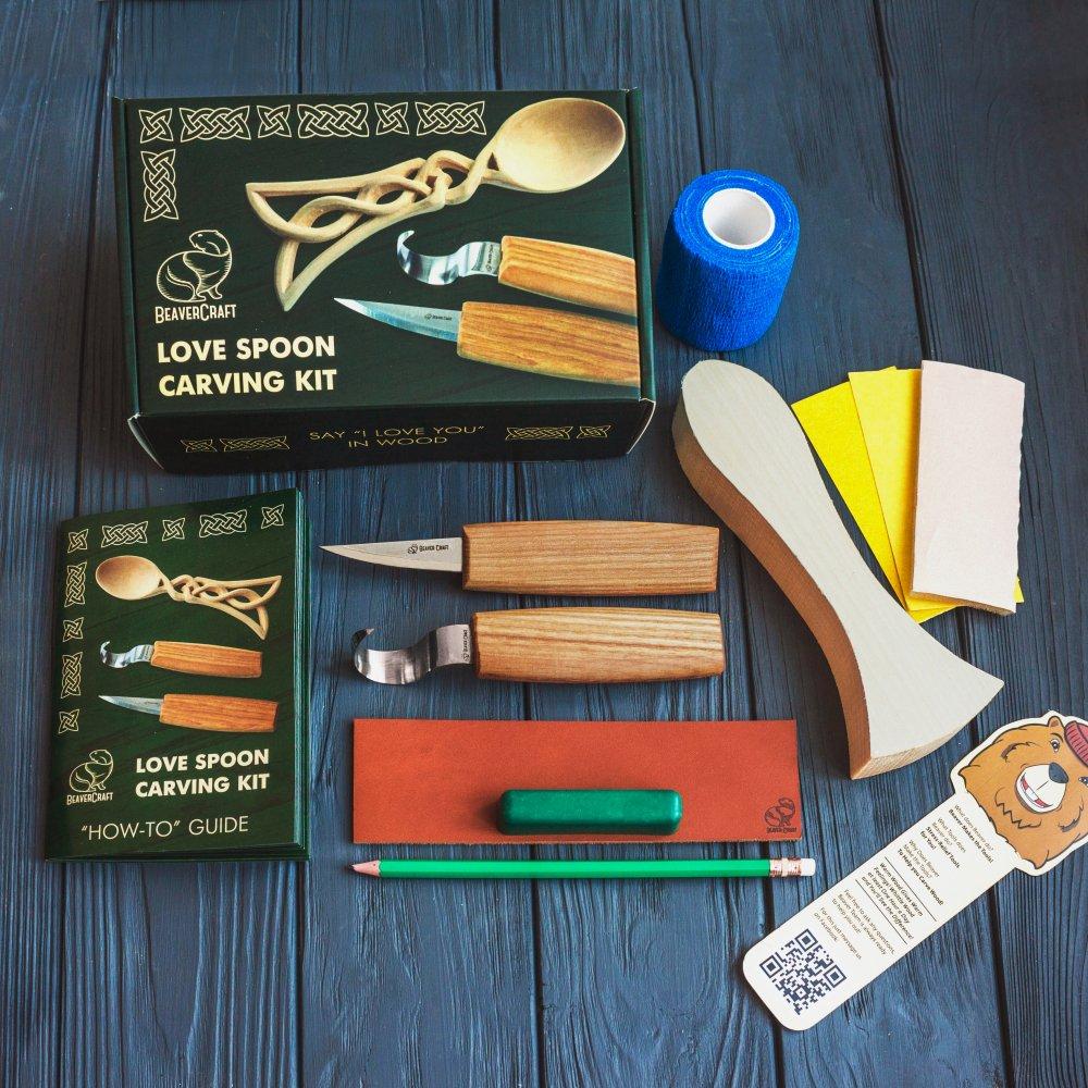 Beaver Craft Celt Spoon Carving Hobby-Kit ビーバークラフト ケルトスプーンカービングキット 初心者 大人 子供向け スターターホイットリングキット