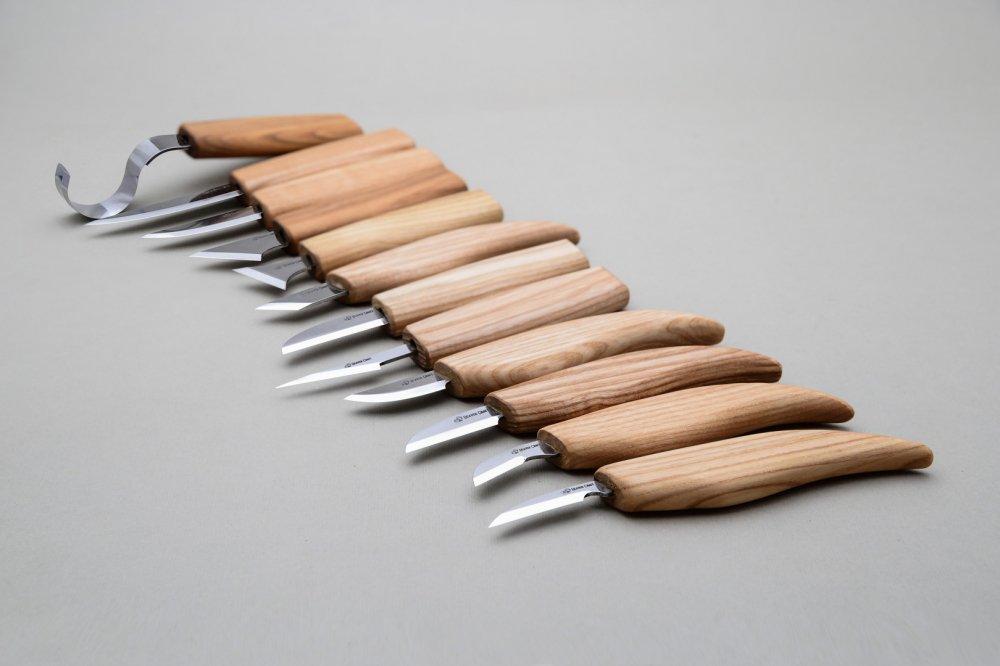 ビーバークラフト ウッドカービングセット ナイフ12本 キャンバスロールツールセット Beaver Craft Wood Carving Set of 12 Knives