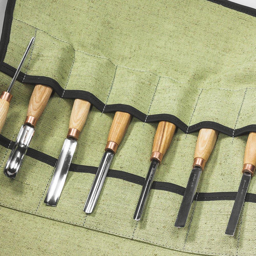 ビーバークラフト ウッドカービング チゼルセット ノミ7本 Beaver Craft Wood Carving Full Set of 7 Chisels