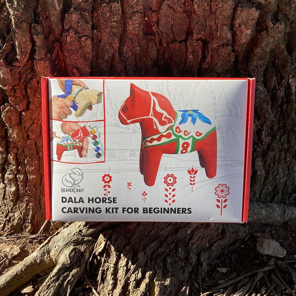 ビーバークラフト ダーラホース カービングキット Beaver Craft Dala Horse Carving Hobby-Kit