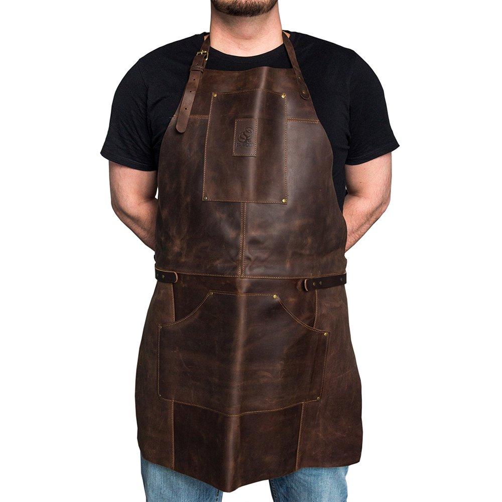 ビーバークラフト 本革エプロン ブラウン Beaver Craft Genuine Leather Apron Brown