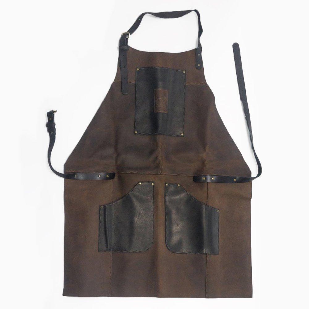 ビーバークラフト レザーエプロン ブラック&ブラウン 本革 Beaver Craft Genuine Leather Apron Black&Brown