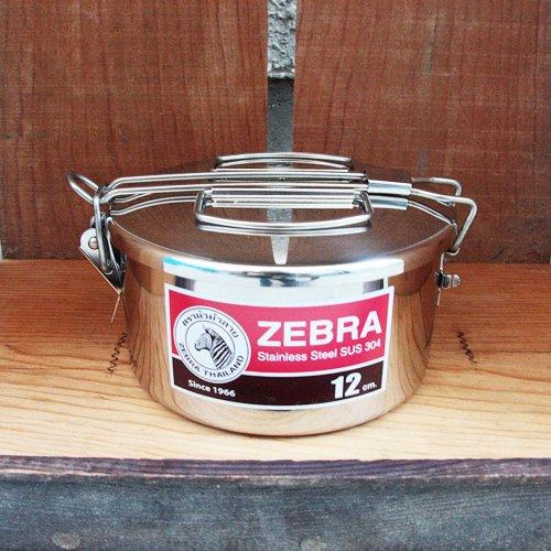 ZEBRA Lunch Box 12cm + inner tray ゼブラ ランチボックス 12cm + インナートレー
