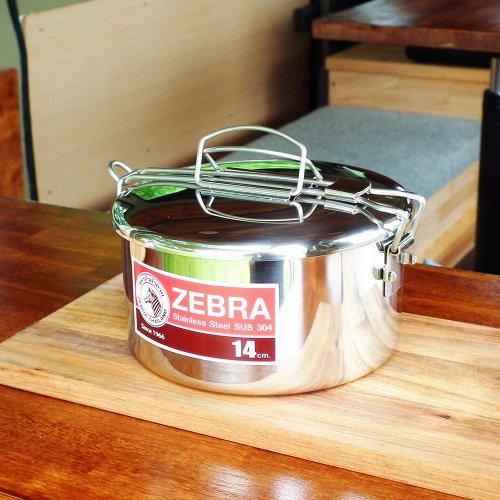 ZEBRA Lunch Box 14cm + inner tray ゼブラ ランチボックス 14cm + インナートレー