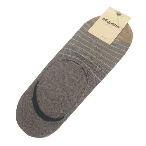 エチケットクロージャーズ メンズ 靴下 踝ソックス スニーカーソックス NO SHOW Needle Stripe Vintage Grey