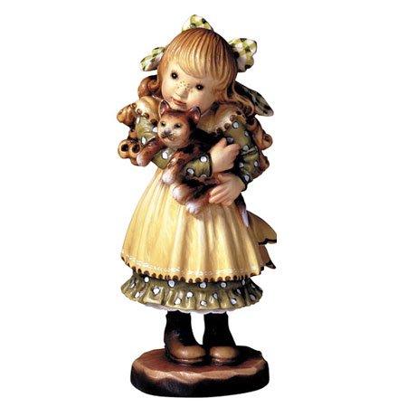 ANRI - Cuddly kitty - Sarah Kay アンリ 木彫り人形 サラ・ケイ