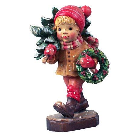 ANRI - Holiday Cheer - Sarah Kay アンリ 木彫り人形 サラ・ケイ