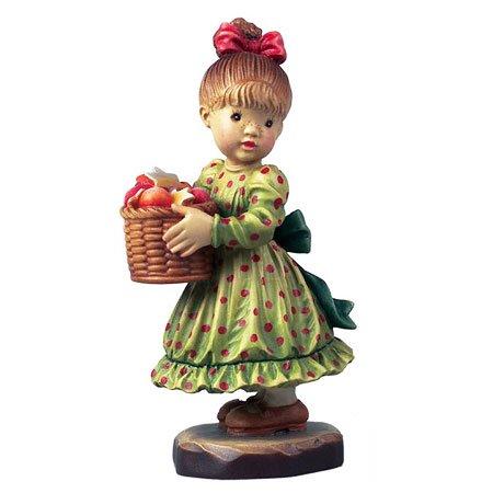 ANRI - Christmas Basket - Sarah Kay アンリ 木彫り人形 サラ・ケイ