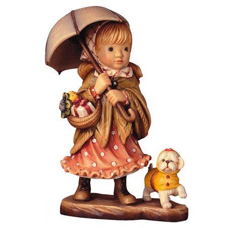 ANRI - Umbrella & Raincoat - Sarah Kay アンリ 木彫り人形 サラ・ケイ