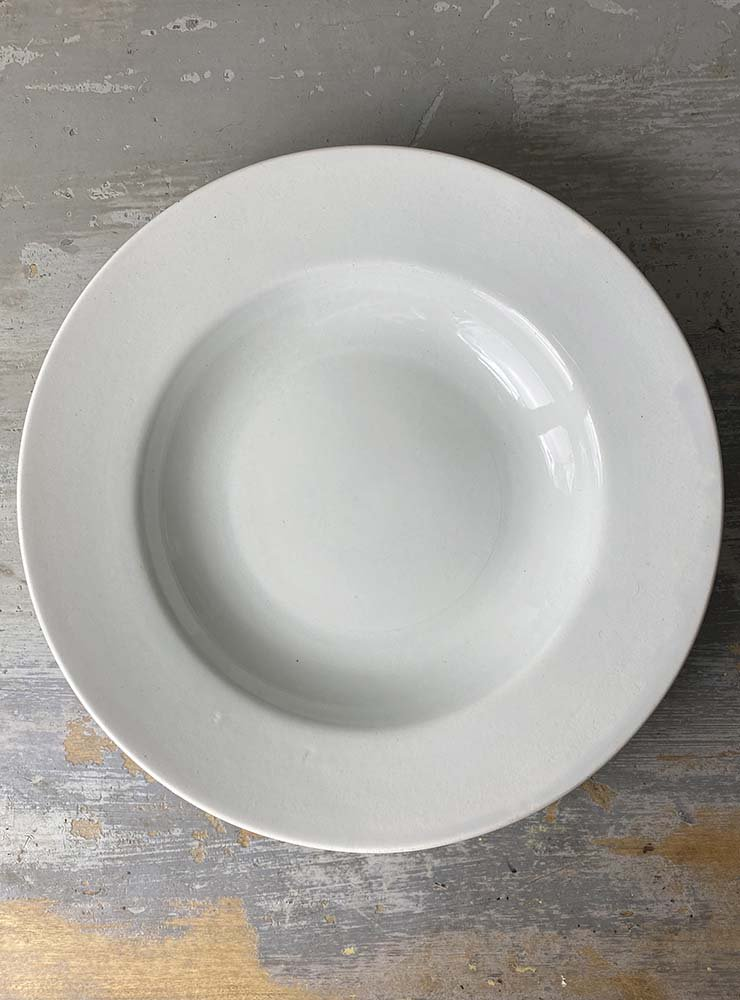 CREIL ET MONTEREAU スーププレート 白深皿 2