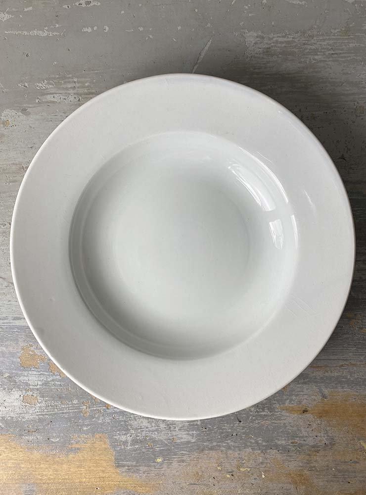 CREIL ET MONTEREAU スーププレート 白深皿 3