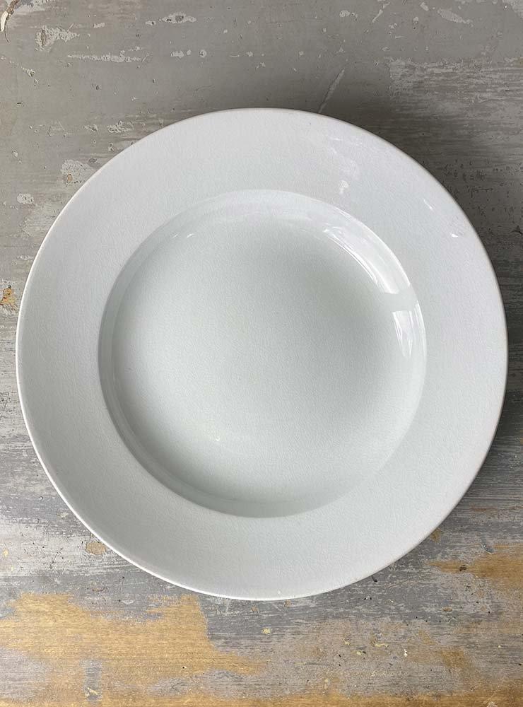 SARREGUEMINES スーププレート 白深皿 1