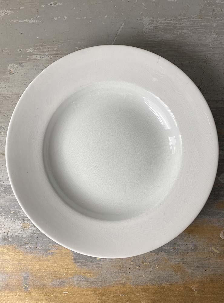 SARREGUEMINES スーププレート 白深皿 2