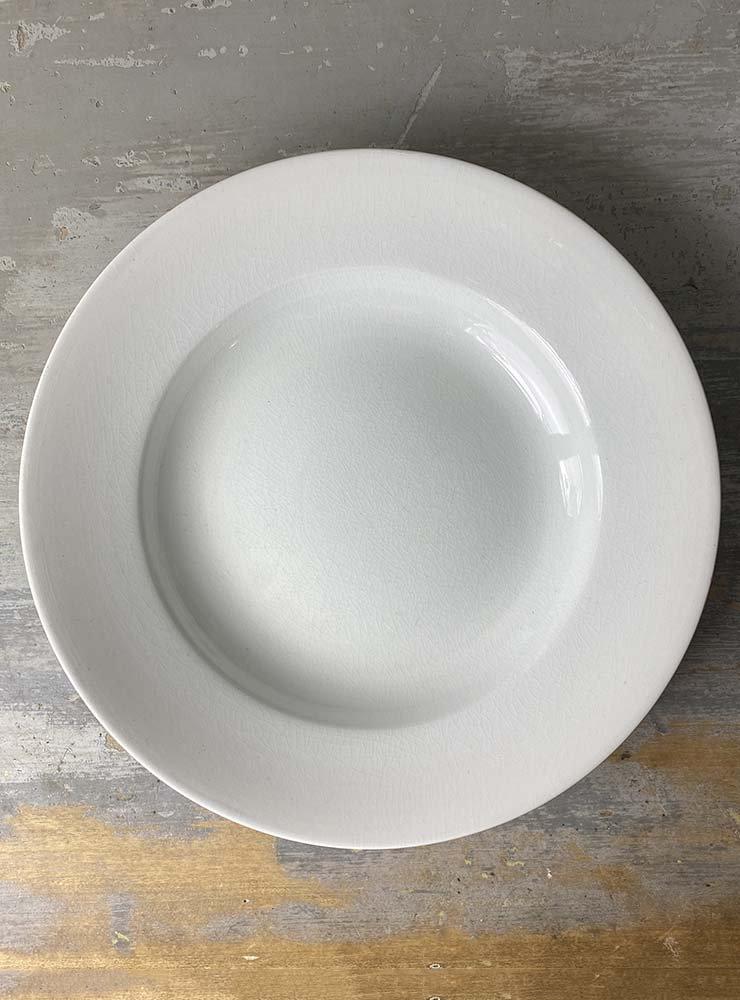 SARREGUEMINES スーププレート 白深皿 3