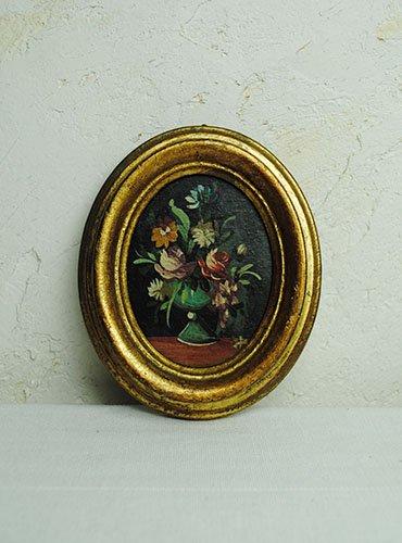 小さな木製ピクチャーフレーム 花瓶緑