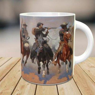 「フレデリック・レミントン: A Dash for the Timber」 オリジナルマグカップ