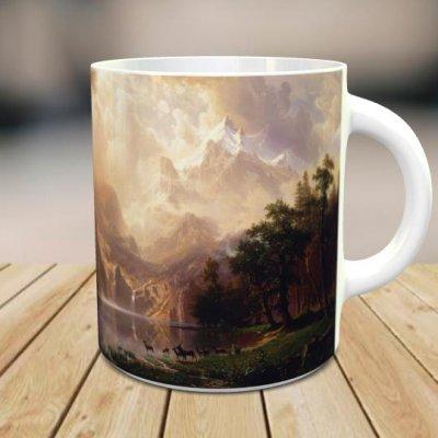 「アルバート・ビアスタット: Among the Sierra Nevada Mountains, California」 オリジナルマグカップ