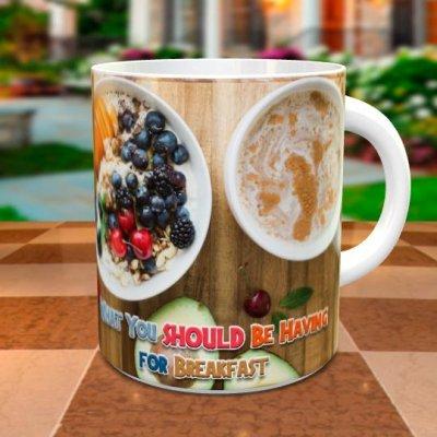 「ヘルシー朝食」 オリジナルマグカップ