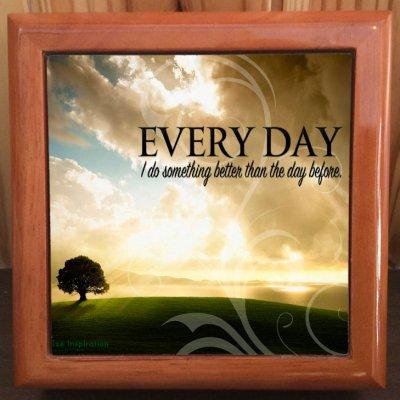 「毎日」写真小物入れ