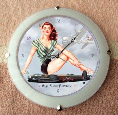 B-52 ストラトフォートレス・壁掛け時計 オーランドDX 球面ガラス使用 ホワイト  ( 33cm )