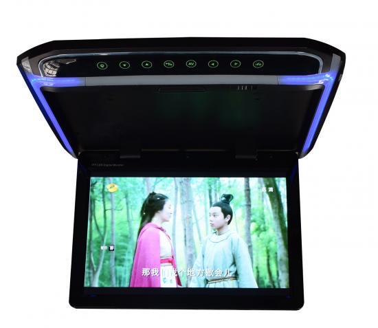 【フリップダウンモニター】 HDMI 動画再生 超薄型 LEDバックライト液晶 10.2インチ 12.1インチ 15.6イ…