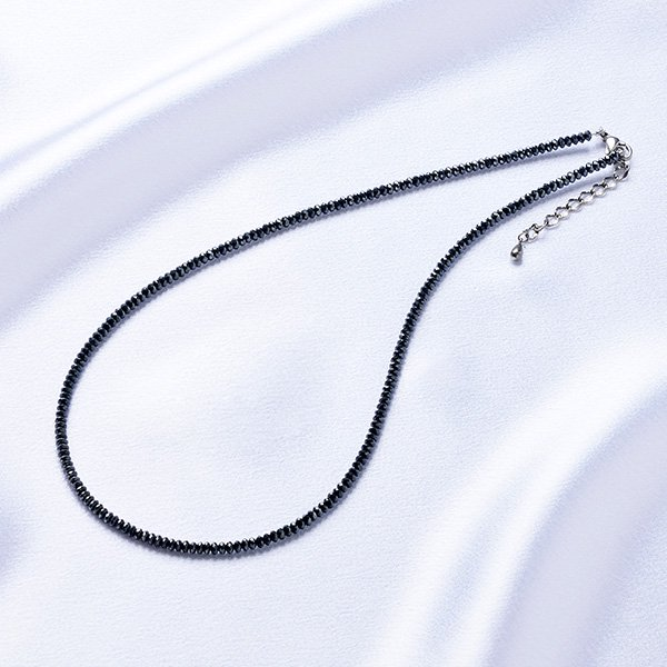K−1312 ブラックダイヤモンド調 マグネック ネックレス