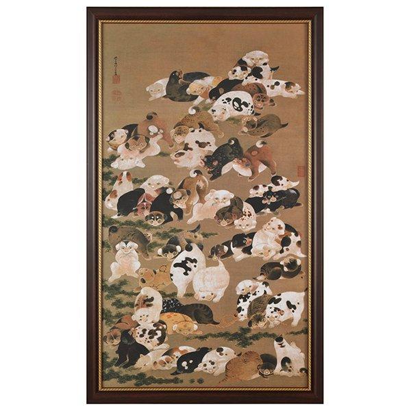 NK−1007 伊藤若冲 「百犬図」額装・複製