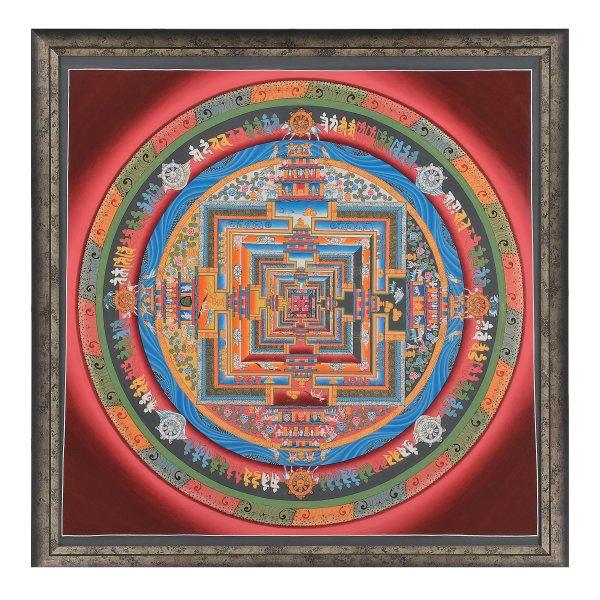 NK−1009   肉筆『密教大曼荼羅図』 マイラ ラマ 作