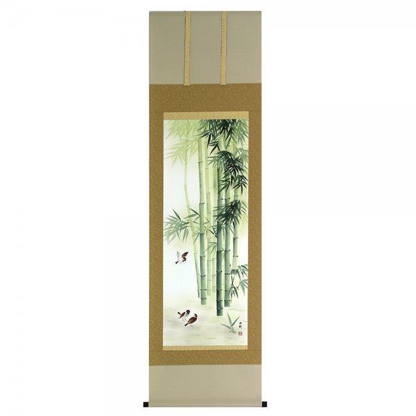 A−8534 竹に雀(たけ すずめ) -画:石田由幾