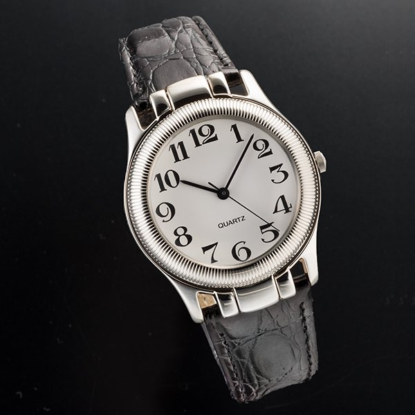 ZA−1031 ルーペ付 銀製腕時計
