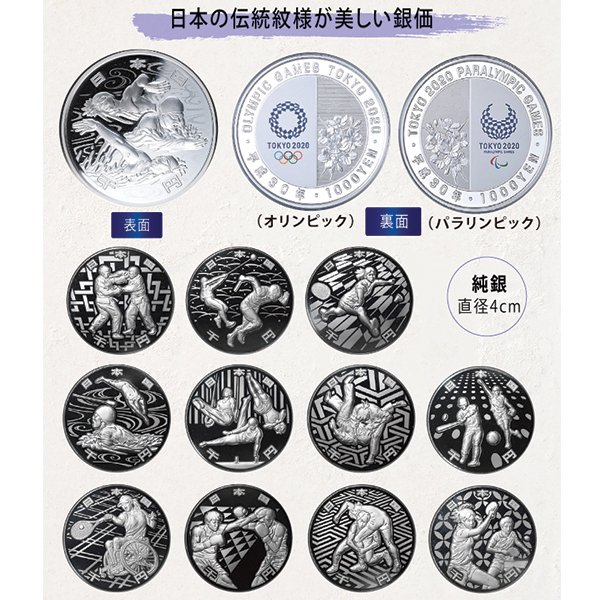 HB−1113   2020オリンピック・パラリンピック千円銀貨 <12種セット>