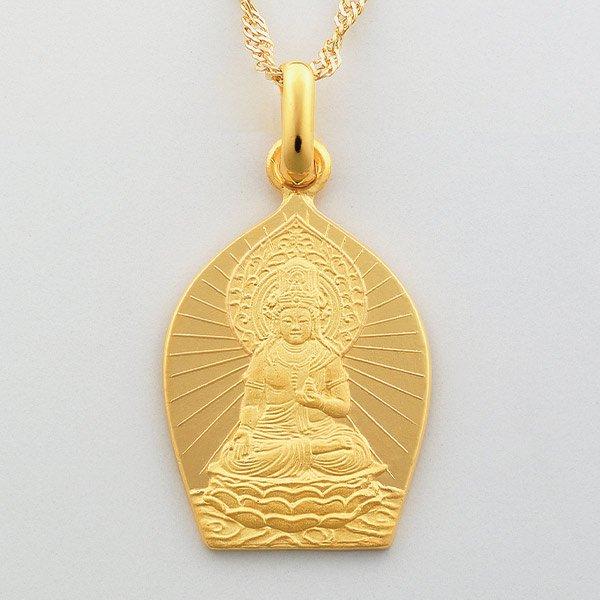 GS−1023  純金製 守護本尊ペンダント (丑・寅)虚空蔵菩薩