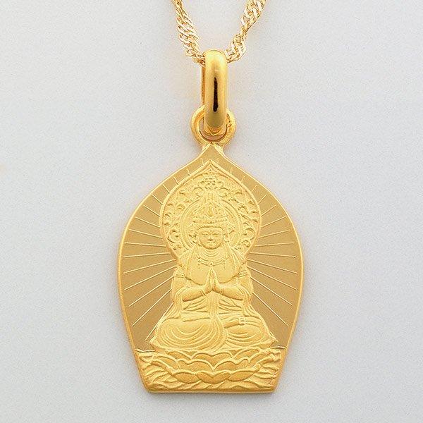 GS−1026  純金製 守護本尊ペンダント (午)勢至菩薩
