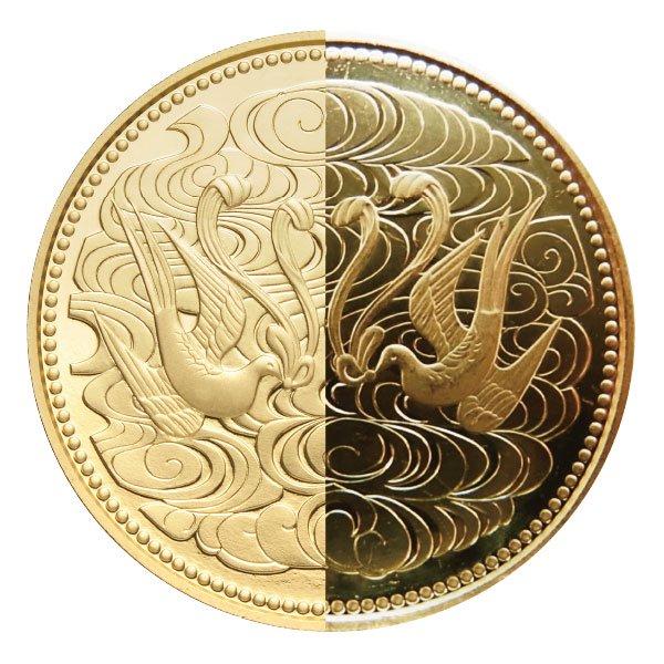 HB−1135 昭和天皇御在位60年記念 2種類の十万円金貨 - 今ではあり得ない10万円という額面。造幣局から発行された初めての記念金貨!!