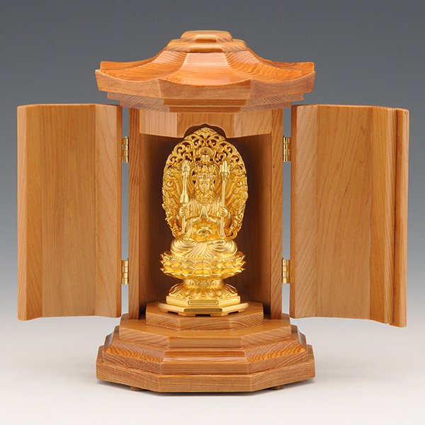 GS−1001−01 光則作 純金製守護本尊像 千手観音菩薩(せんじゅかんのんぼさつ) 仏像