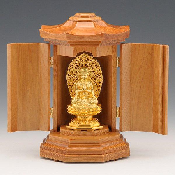 GS−1001−05 光則作 純金制守護本尊像 勢至菩薩(せいしぼさつ)仏像