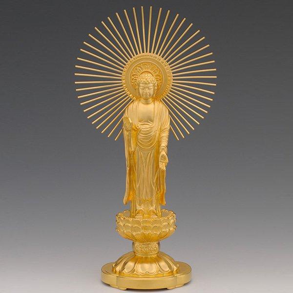 GO−202 純金製 阿弥陀如来像 御東 (大)仏像
