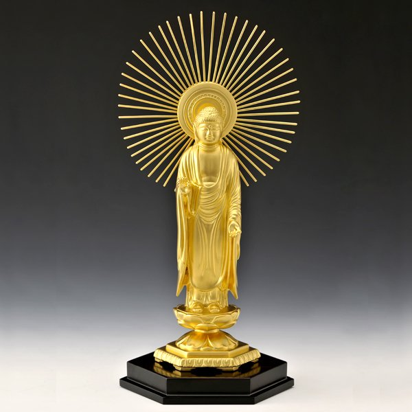 1117 純金製 阿弥陀如来像 御東 <大>仏像