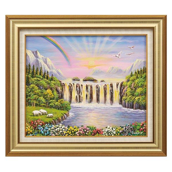 M−1122−2 風水幸運の楽園−10号 (ふうすいこううんのらくえん)額画 絵画