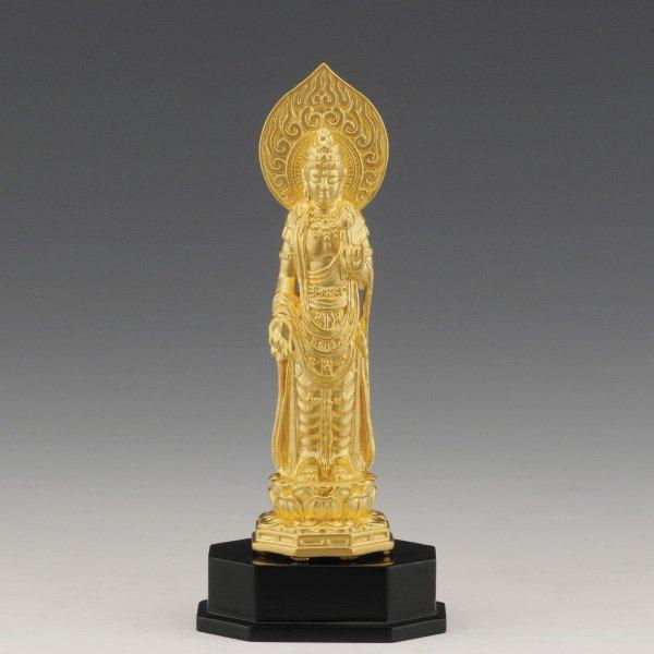 K-1127 純金製 聖観世音菩薩像(約13g)