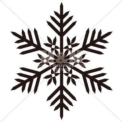 イラスト素材 雪の結晶ブラック03 M M Collection