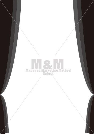イラスト素材 インテリア背景 カーテン ツイン ブラック M M Collection