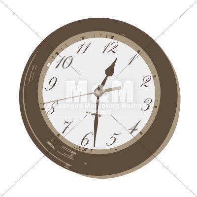 イラスト素材 小物 雑貨 アンティーク 時計 2 M M Collection