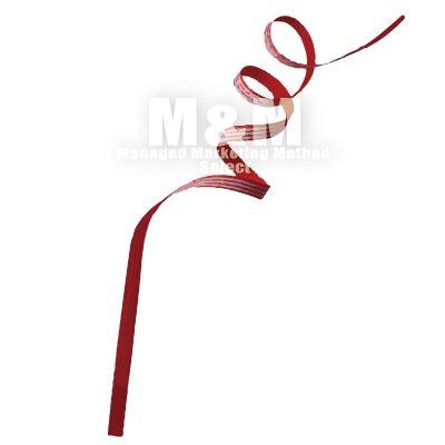 イラスト素材 Ribbon リボン くるんくるんと可愛いストライプリボン M M Collection