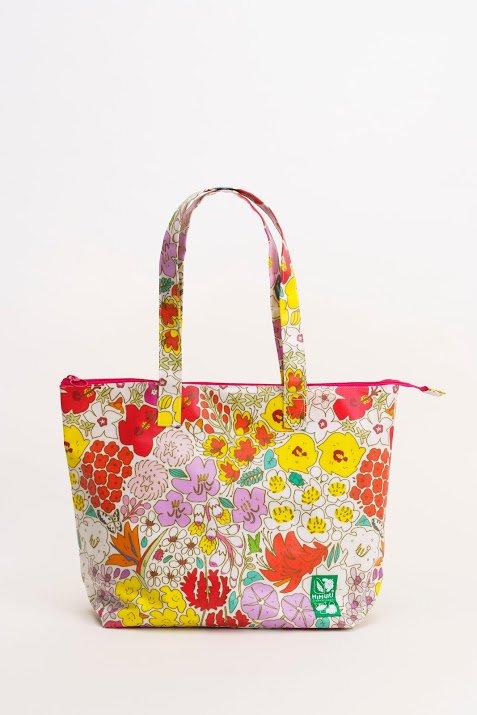 大きいラミネートバッグ お花
